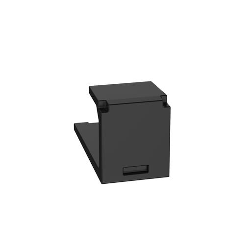 Mayer-Mini-Com® Blank Module, 1 Port, Black-1
