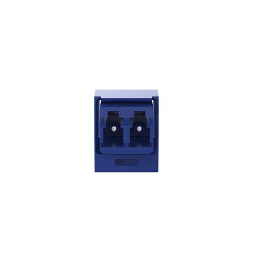 Mayer-Mini-Com® LC Adapter Module, Single mode Duplex, Blue-1