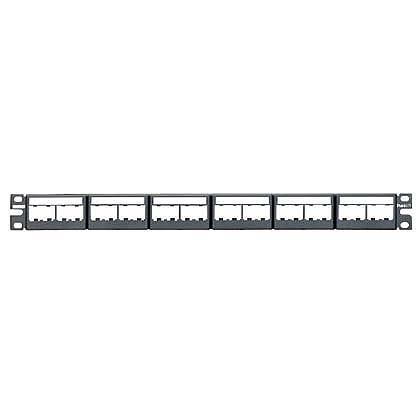 Mayer-Mini-Com® Patch Panel w/labels, 24 Port, 1 RU, BL-1