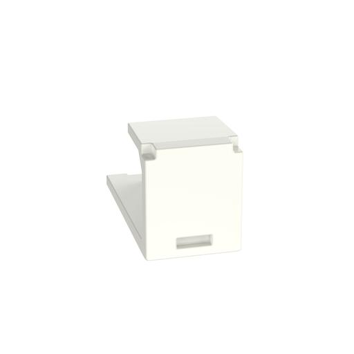 Mayer-Mini-Com® Blank Module, 1 Port, Off White-1