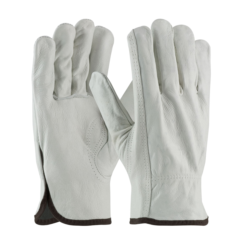 PIP 68-163/L Large Top Grain Cowhide Leather Driver Keystone Thumb Slip-On Cuff Protective Gloves