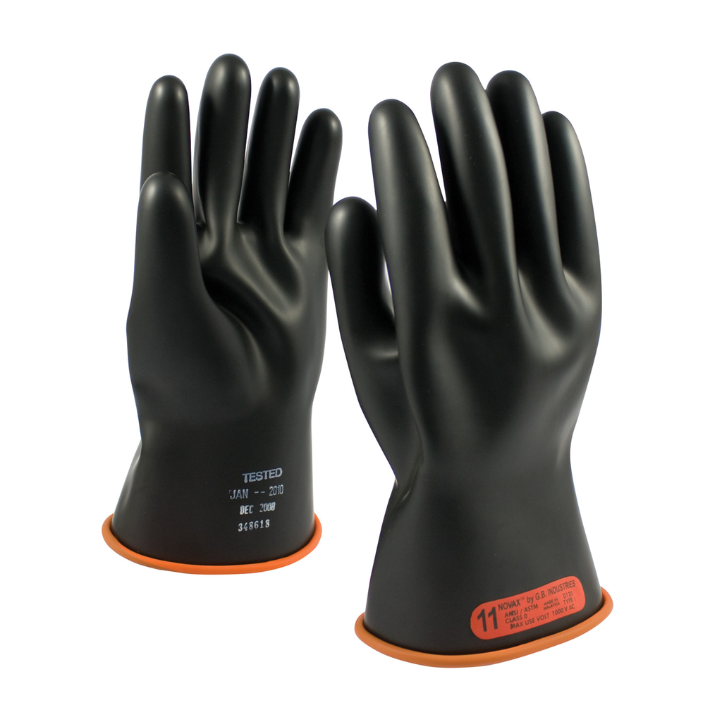 PIP 155-0-11/12 NOVAX INSULATINGGLOVE, CLASS 0, 11 IN., BLK./ORN.,STRAIGHT CUFF LIKELY SUBJECT TO TAX