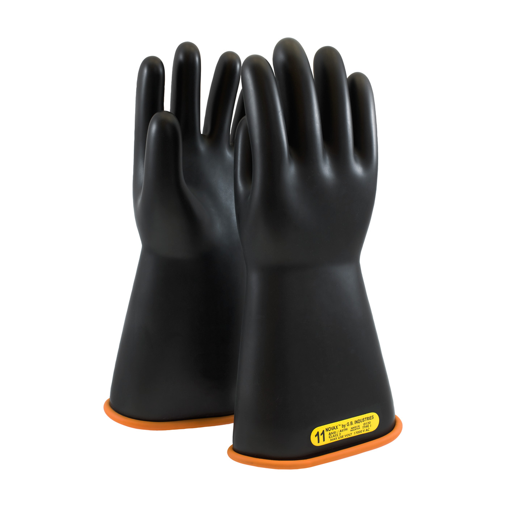 PIP 155-2-14/8 NOVAX INSULATINGGLOVE, CLASS 2, 14 IN., BLK./ORN.,STRAIGHT CUFF LIKELY SUBJECT TO TAX