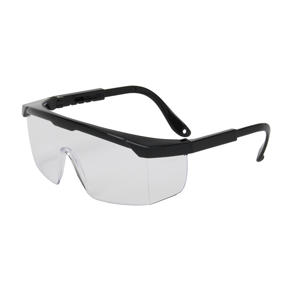 PIP 250-24-0000 Black Frame Clear Lens Anti-Scratch Coated Universal Safety Glasses