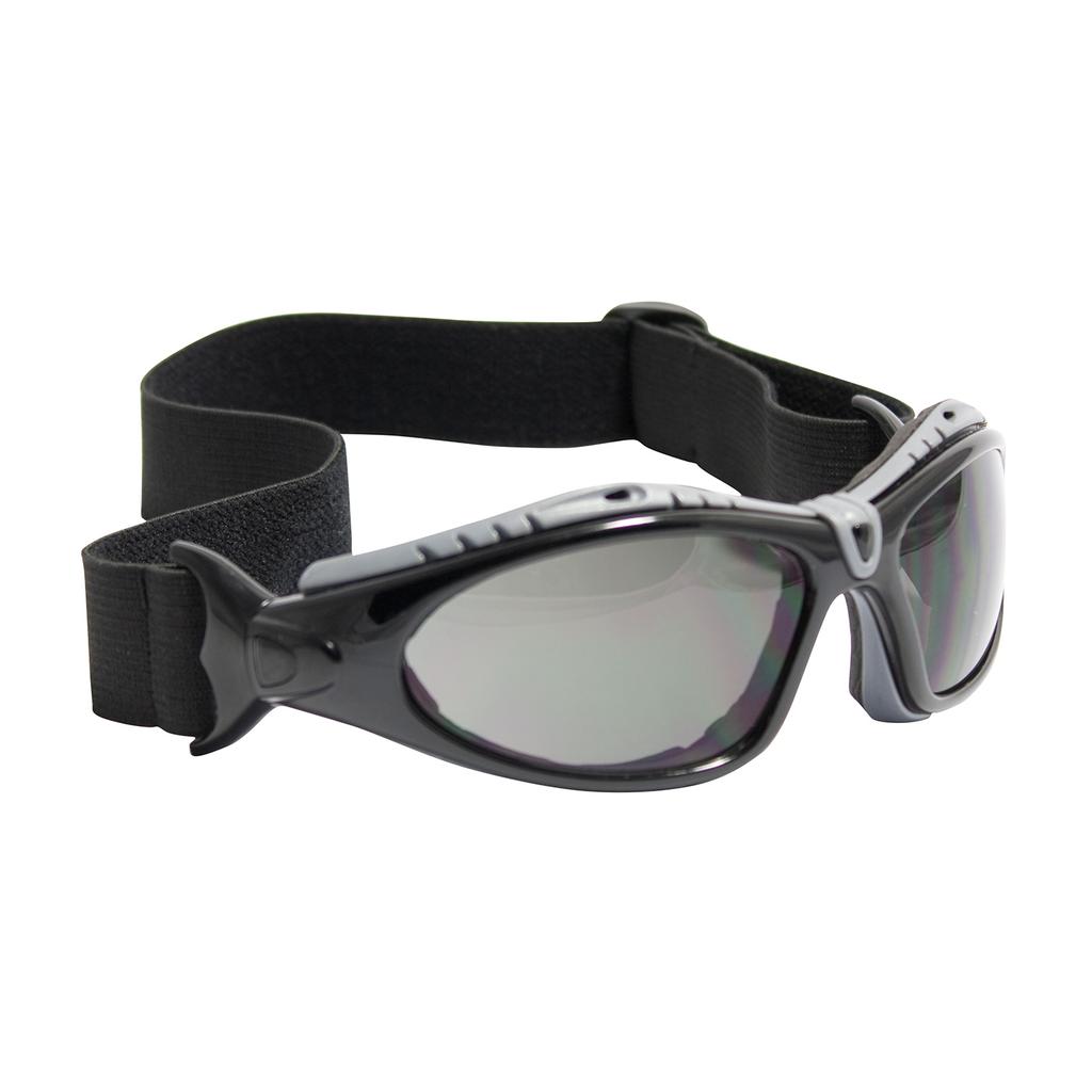PIP 250-50-0421 Black Frame Gray Lens Anti-Scratch/Anti-Fog Coated Universal Safety Glasses