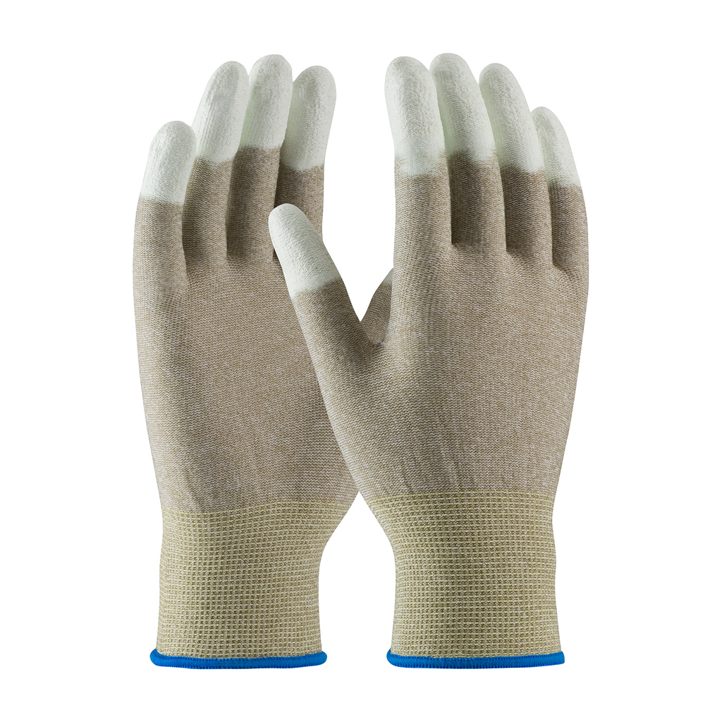 PIP 40-6416/S NYLON AND COPPERFIBER YARNS, WHT. PU COATED FINGERTIPS LIKELY SUBJECT TO TAX