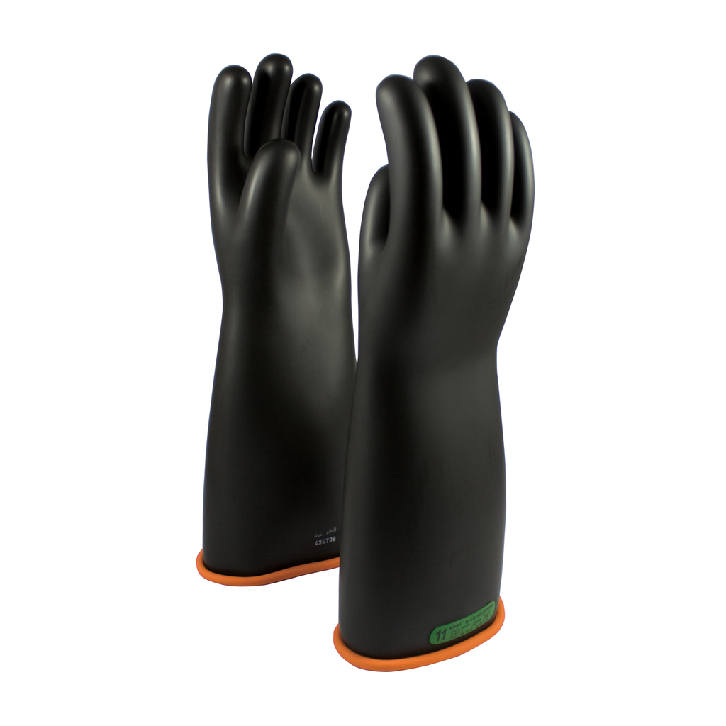 PIP 155-3-18/12 NOVAX INSULATINGGLOVE, CLASS 3, 18 IN., BLK./ORN.,STRAIGHT CUFF LIKELY SUBJECT TO TAX