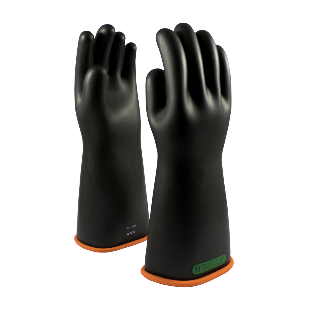 PIP 155-3-16/9 NOVAX INSULATINGGLOVE, CLASS 3, 16 IN., BLK./ORN.,STRAIGHT CUFF LIKELY SUBJECT TO TAX