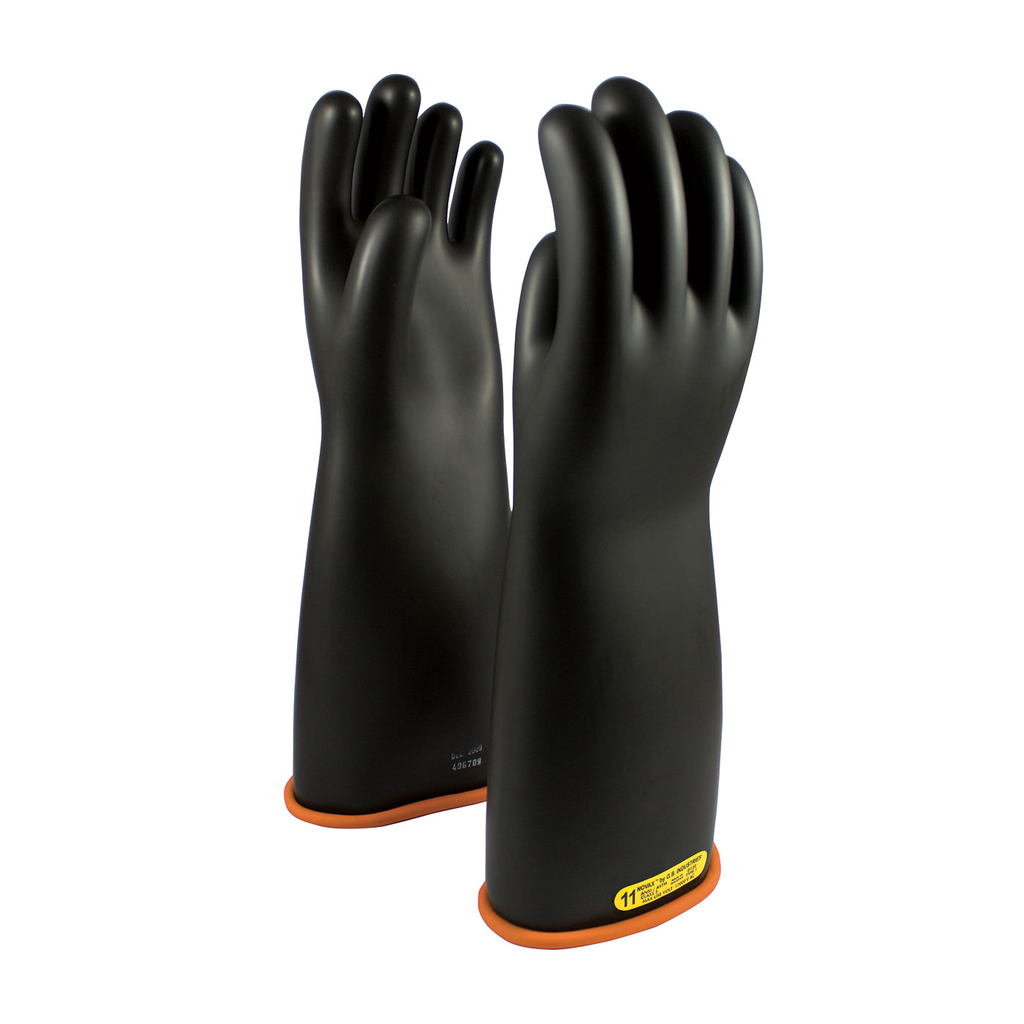 PIP 155-2-18/11 NOVAX INSULATINGGLOVE, CLASS 2, 18 IN., BLK./ORN.,STRAIGHT CUFF LIKELY SUBJECT TO TAX