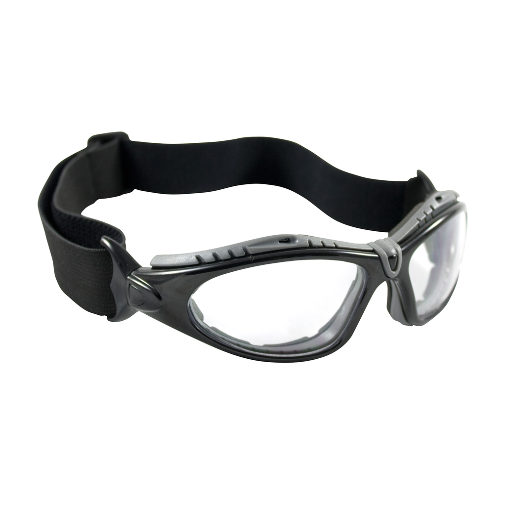PIP 250-50-0420 Black Frame Clear Lens Anti-Scratch/Anti-Fog Coated Universal Safety Glasses