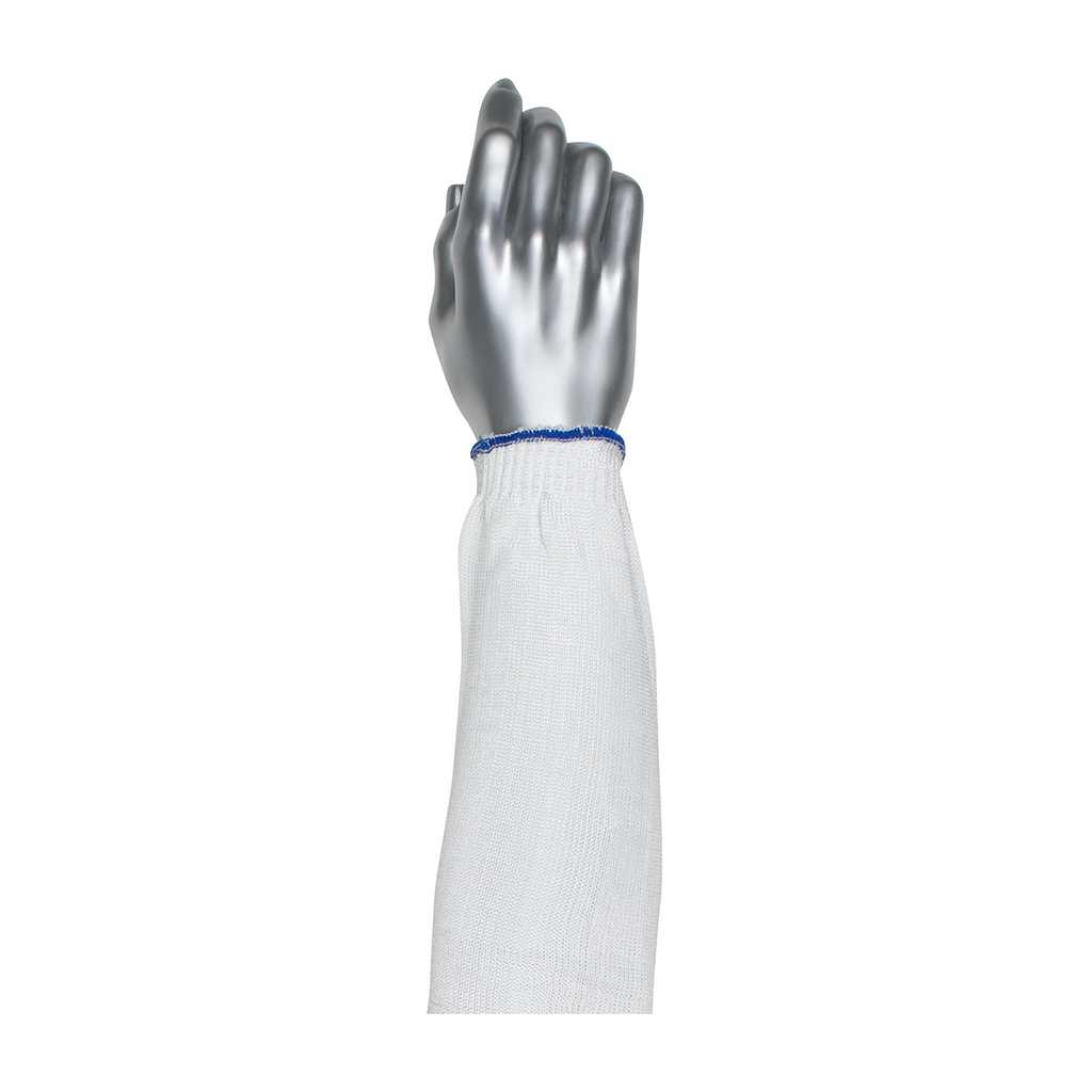 PIP 20-SD18 18 Inch White Dyneema Spun Nylon Blend High Tenacity Knit Elasticized End Cuff Protective Arm Sleeve