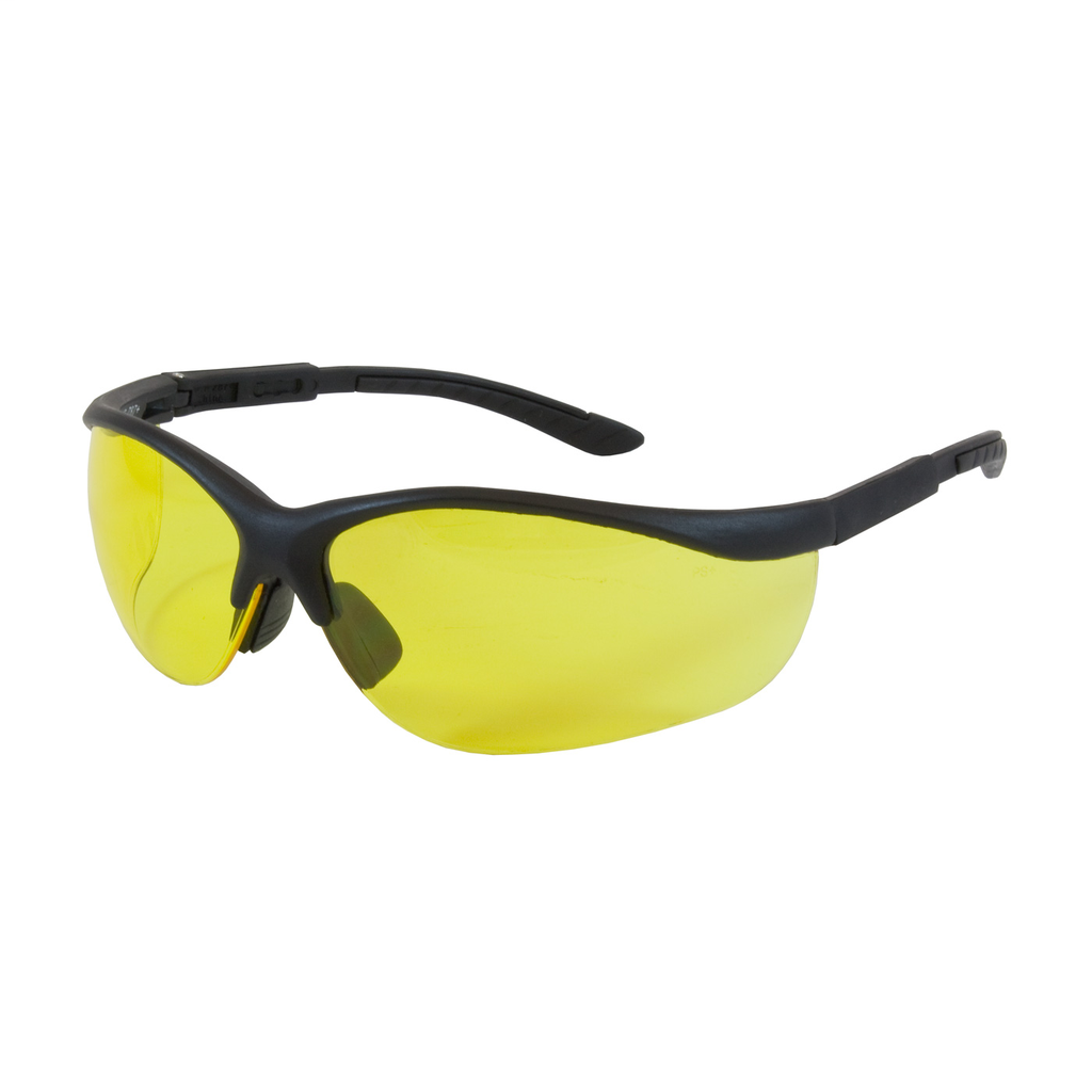 PIP 250-21-0409 HI-VOLTAGE AC,AMBER AS LENS, BLK ADJ TMPLS,NARROW SIZING LIKELY SUBJECT TO TAX
