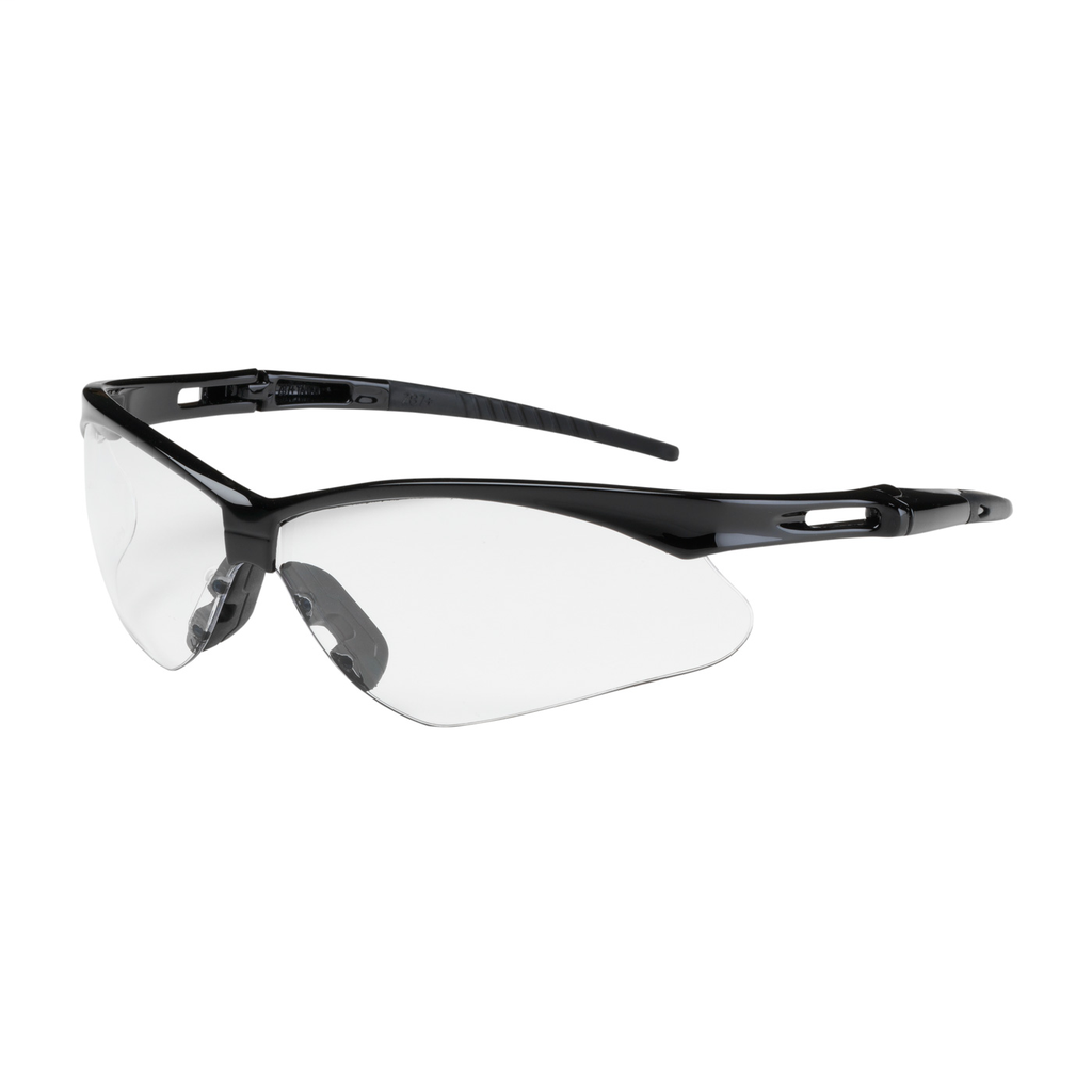 PIP 250-AN-10110 Black Frame Clear Lens Anti-Scratch Coated Universal Safety Glasses