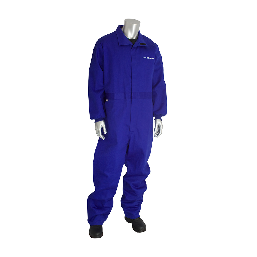 PIP 9100-2120D/2X 8 CAL FR DUALCERT. 7OZ. COVERALL, VENTED BACK,NFPA 70E & 2112, ROYAL LIKELYSUBJECT TO TAX