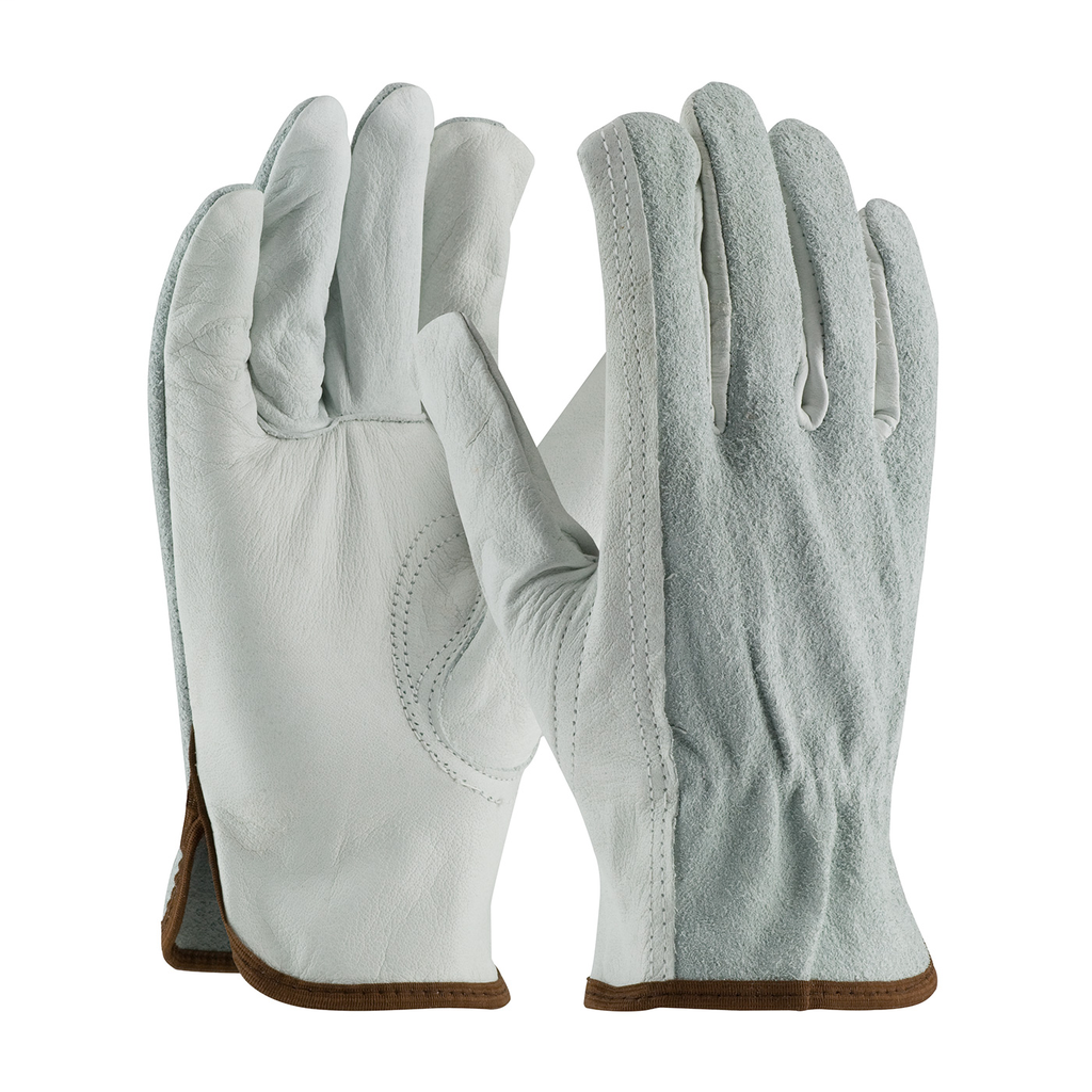 PIP 68-161SB/XL Extra Large Top Grain Cowhide Leather Driver Keystone Thumb Slip-On Cuff Protective Gloves