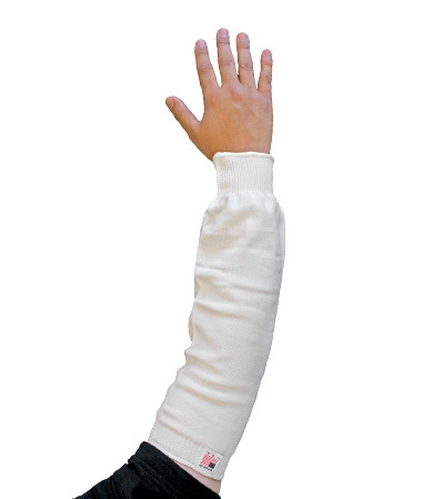 PIP 15-214WL PRITEX SLEEVE,14-INCH, WHITE, STANDARD WIDTH,ELASTIC CUFF LIKELY SUBJECT TO TAX