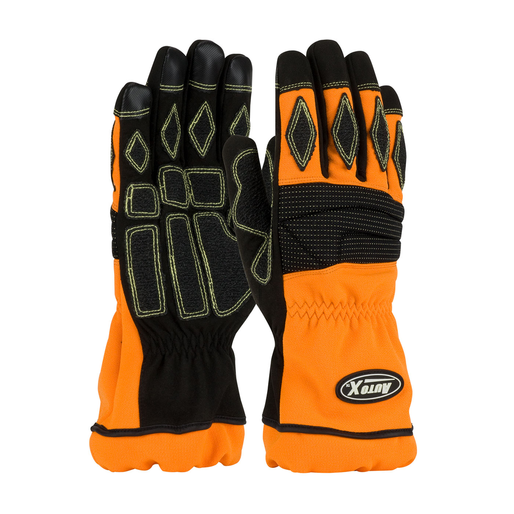 PIP 911-AX9/XL AUTOX EXTRICATION,ORANGE W/ BLACK PADDING, XL,NON-MELT FINGERTIPS LIKELY SUBJECTTO TAX
