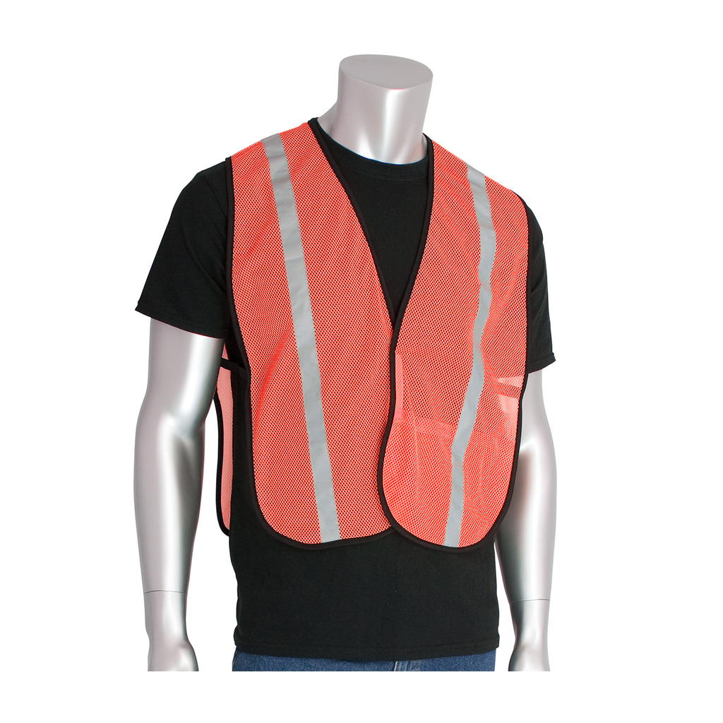PIP 300-EVOR-EOR Orange Breathable Polyester Mesh Fabric Safety Vest