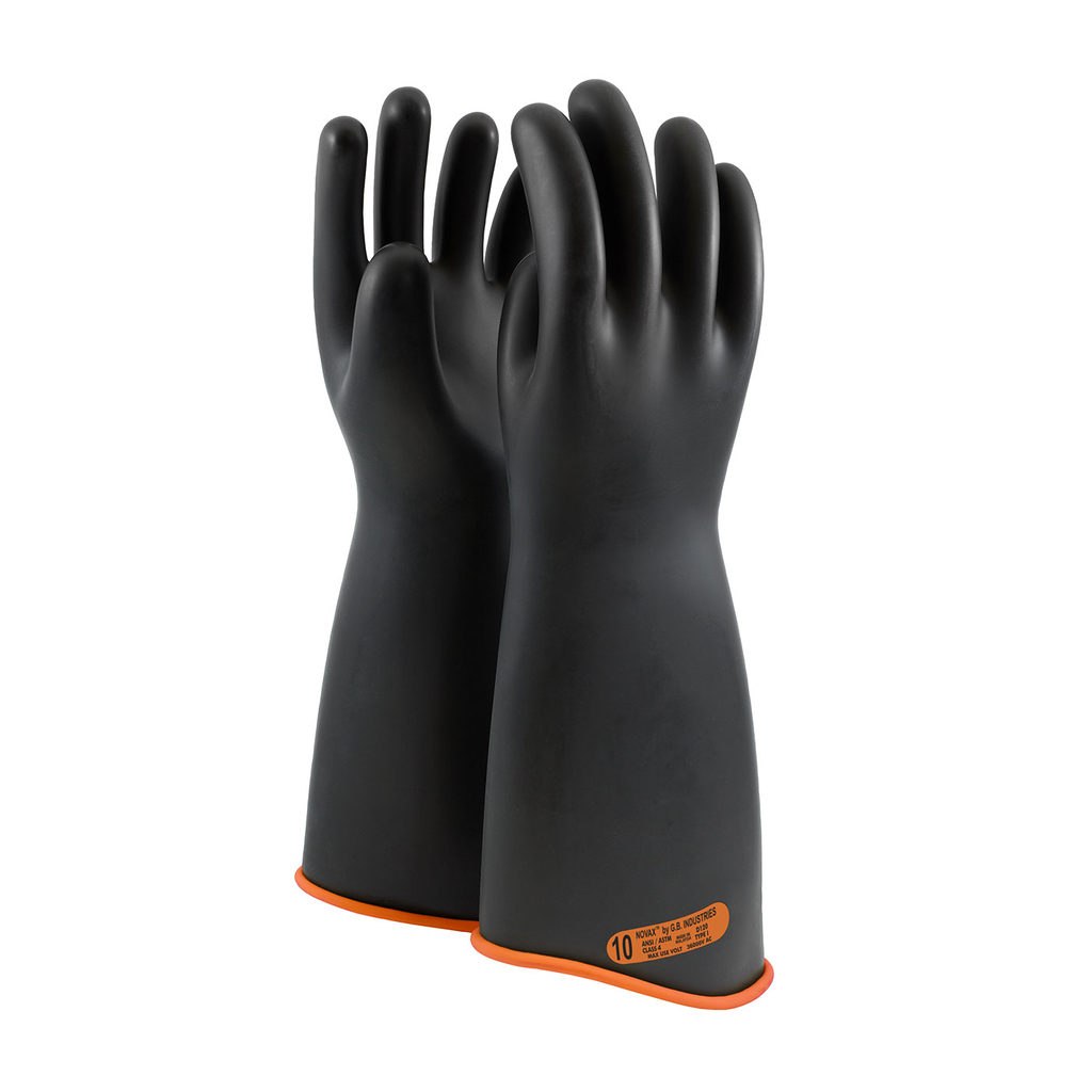 PIP 158-4-18/9 NOVAX INSULATINGGLOVE, CLASS 4, 18 IN., BLK./ORN.,CONTOUR CUFF LIKELY SUBJECT TO TAX