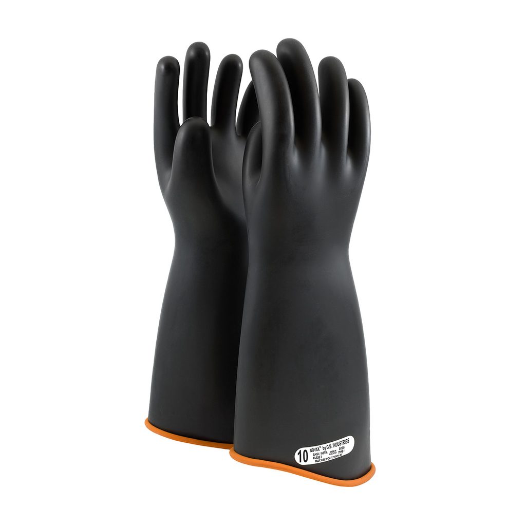 PIP 158-1-18/9 NOVAX INSULATINGGLOVE, CLASS 1, 18 IN., BLK./ORN.,CONTOUR CUFF LIKELY SUBJECT TO TAX