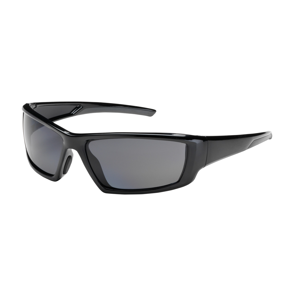 PIP 250-47-0041 Black Frame Polarized Gray Lens Anti-Scratch/Anti-Fog Coated Universal Safety Glasses