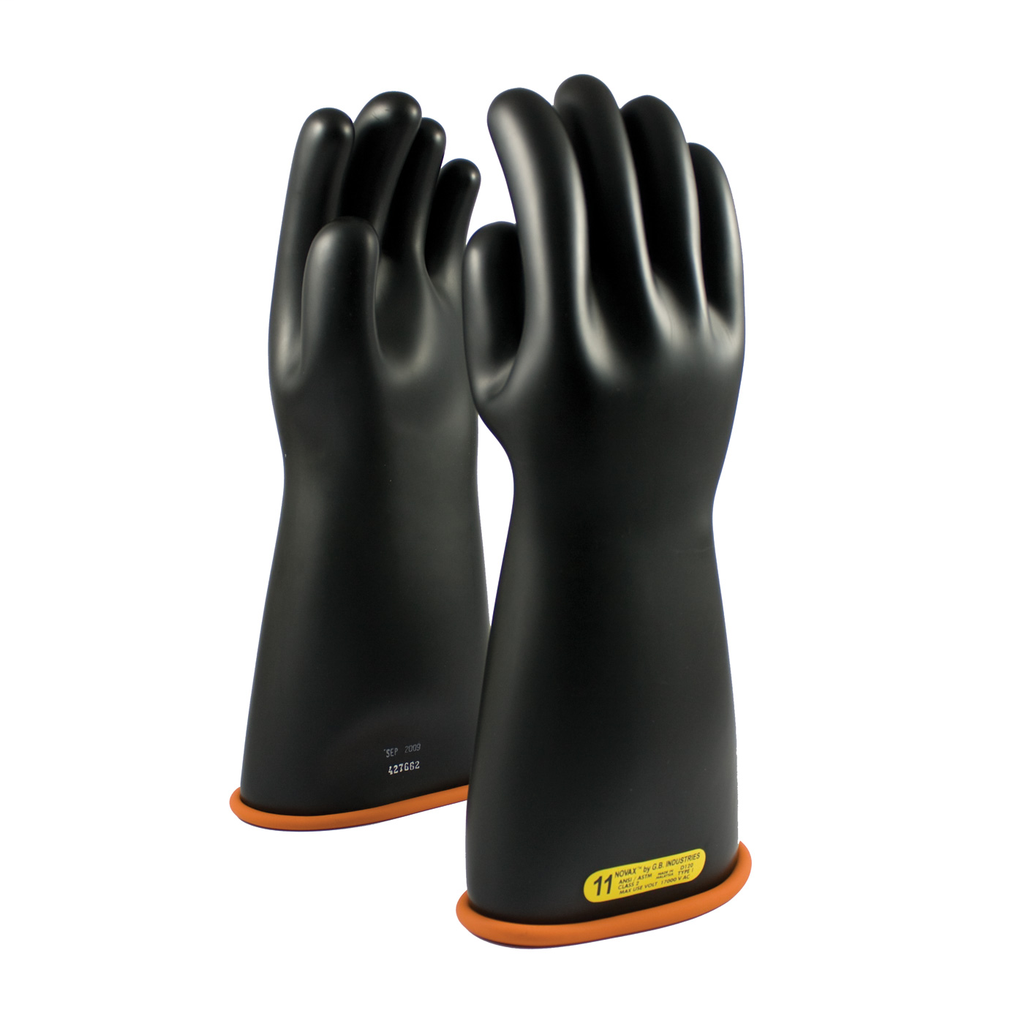 PIP 155-2-16/11 NOVAX INSULATINGGLOVE, CLASS 2, 16 IN., BLK./ORN.,STRAIGHT CUFF LIKELY SUBJECT TO TAX