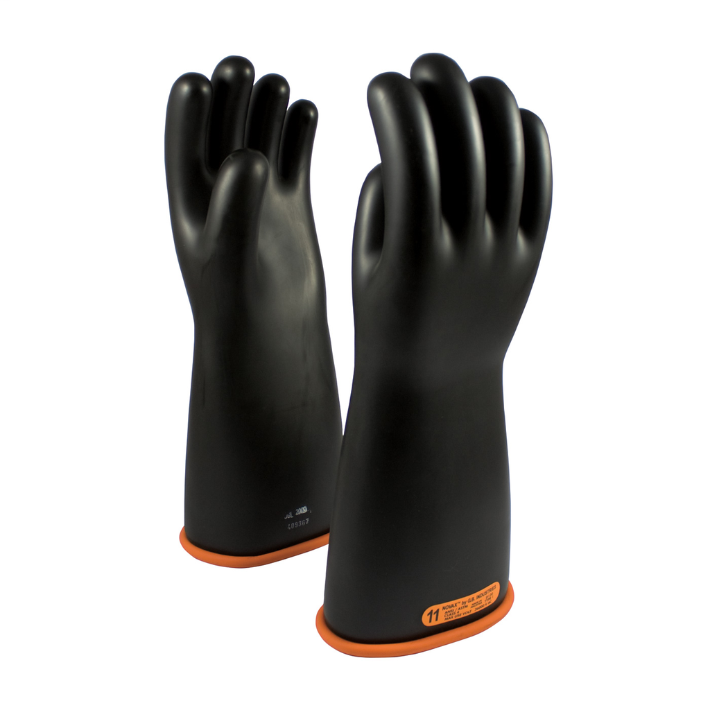 PIP 155-4-16/10 NOVAX INSULATINGGLOVE, CLASS 4, 16 IN., BLK./ORN.,STRAIGHT CUFF LIKELY SUBJECT TO TAX
