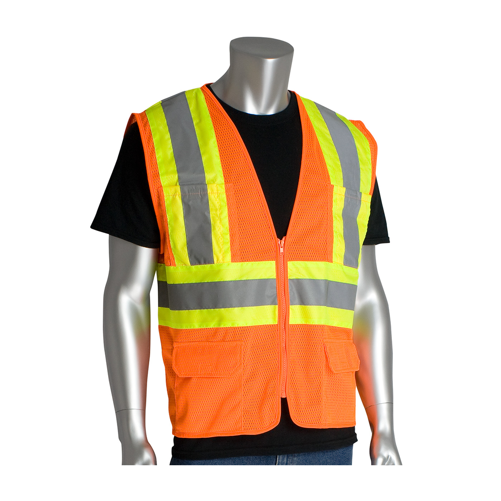 PIP 302-MVZPOR-M CLASS 2 MESH VEST,6 POCKETS ZIPPER CLOSURE TWO TONETAPE, OR LIKELY SUBJECT TO TAX