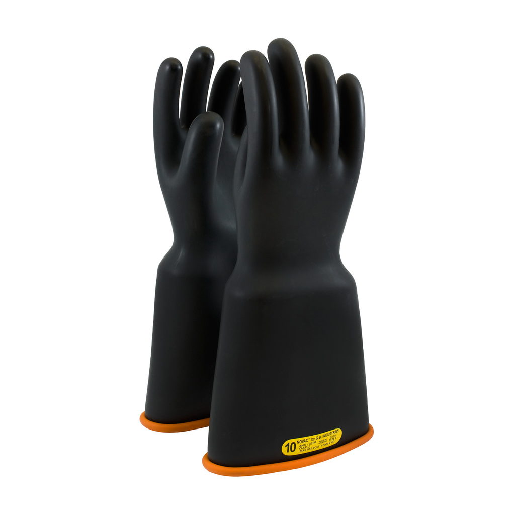 PIP 159-2-16/12 NOVAX INSULATINGGLOVE, CLASS 2, 16 IN., BLK./ORN.,BELL CUFF LIKELY SUBJECT TO TAX