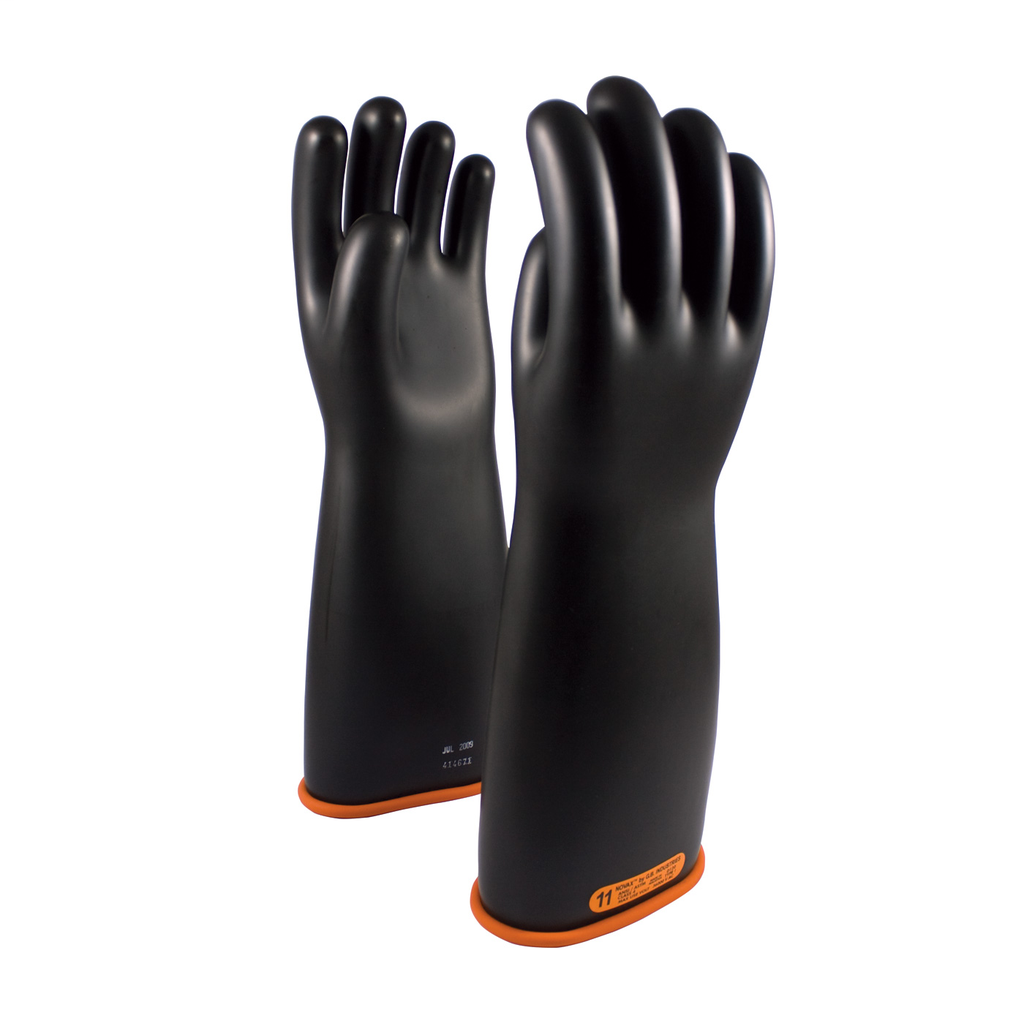 PIP 155-4-18/10 NOVAX INSULATINGGLOVE, CLASS 4, 18 IN., BLK./ORN.,STRAIGHT CUFF LIKELY SUBJECT TO TAX