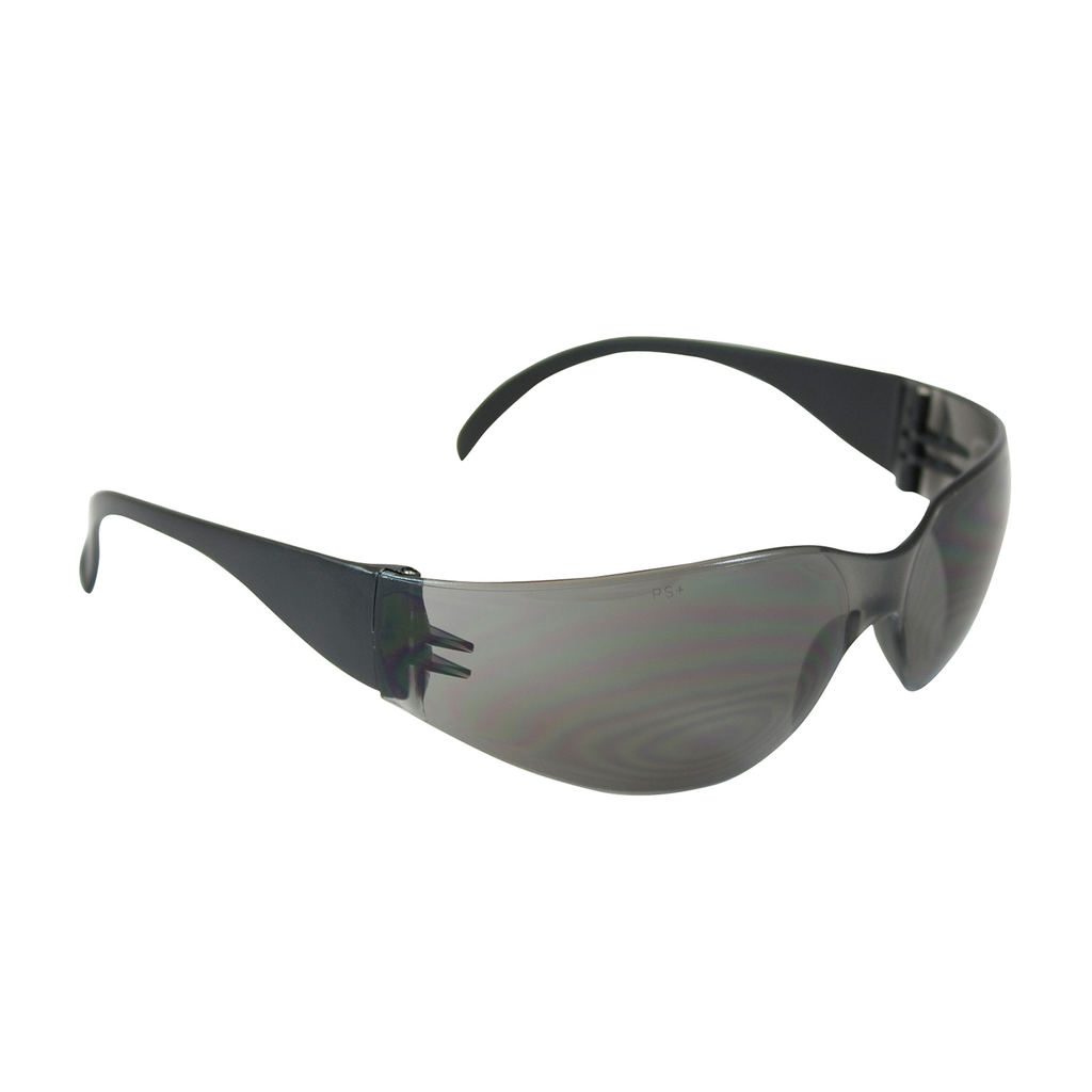 PIP 250-01-0001 Black Frame Gray Lens Anti-Scratch Coated Universal Safety Glasses