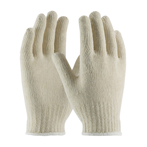 Economy Weight Seamless Knit Cotton / Polyester Glove - 7 Gauge, L, Natural