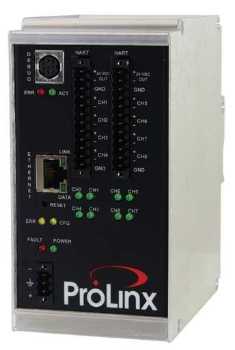 Modbus TCP/IP to HART Analog Gateway (8 Chan)
