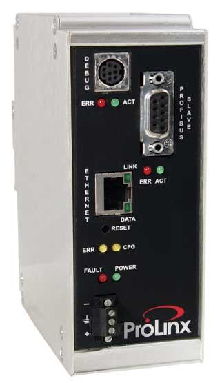 Modbus TCP/IP to PROFIBUS DP Slave Gateway