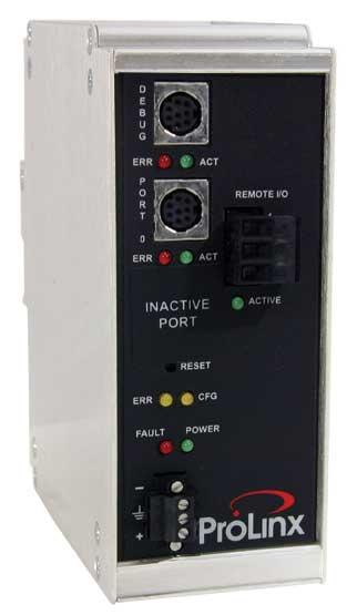Rockwell Automation Remote I/O to Modbus Master/Slave Gateway