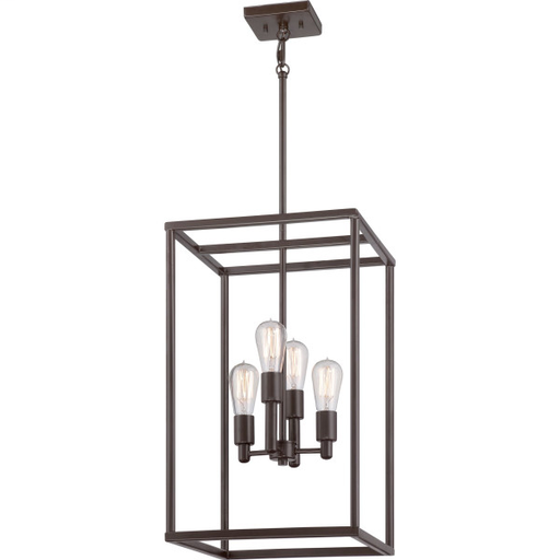 QUO NHR5204WT CAGE CHANDELIER W/ LTS