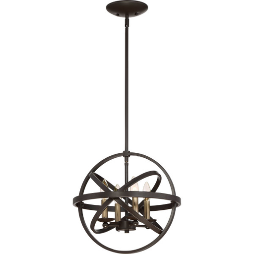 QUO EON1715WT EONS WT WESTERN BRONZE FINISH, MEDIUM SEMI FLUSH MOUNT
