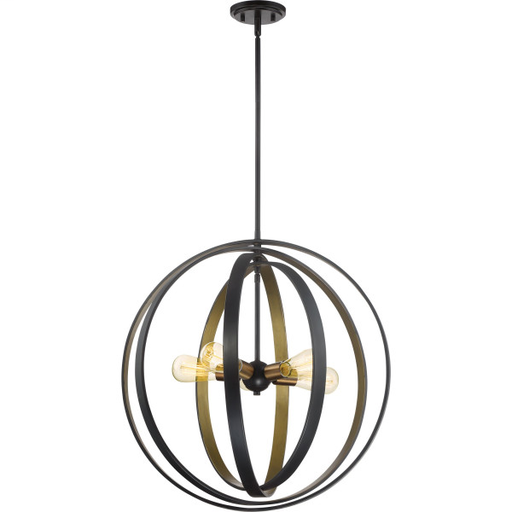 QUO CCT2824WT CIRCUIT - WT WESTERN BRONZE FINISH, PENDANT W/5 LIGHTS