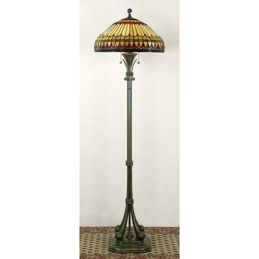 QUO TF9320BB WEST END TIFFANY FLOOR LAMP 60 H 18 D RESIN MATERIAL (2)100 2-100W MED