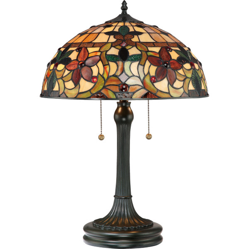 """QUO TF878T 23"""" HT TABLE LAMP 2-75W"""