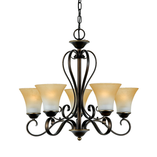 QUO DH5005PN 5/100W-M PALADIAN BRONZE CHANDELIER