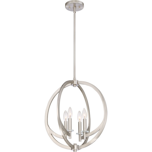 QUO ON2818BN PENDANT W/4 LIGHTS