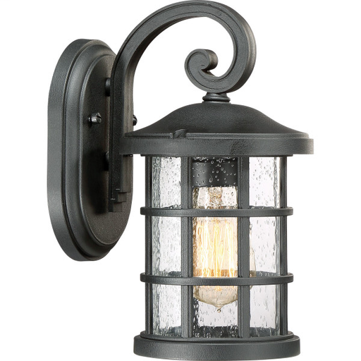 QUO CSE8406EK CRUSADE - EK EARTH BLACK FINISH, SMALL WALL LANTERN