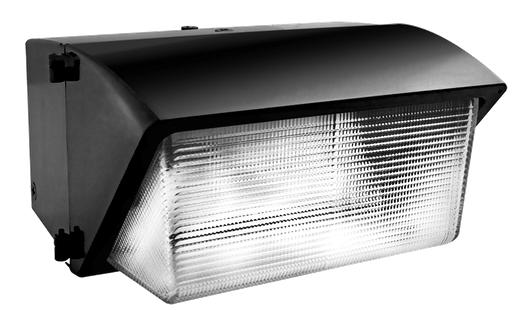 RAB WP4H400PSQ WALLPACK 400W MH PSQT HPF GLASS LENS PULSE START+LAMP BZ