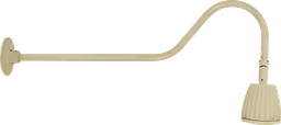 "Gooseneck 35"" Arm 13W Neutral LED No Shade Spot Reflector Ivory"