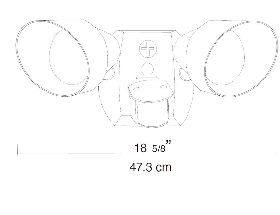 Rab Sqb2w Wh Motion Sen Light Kit