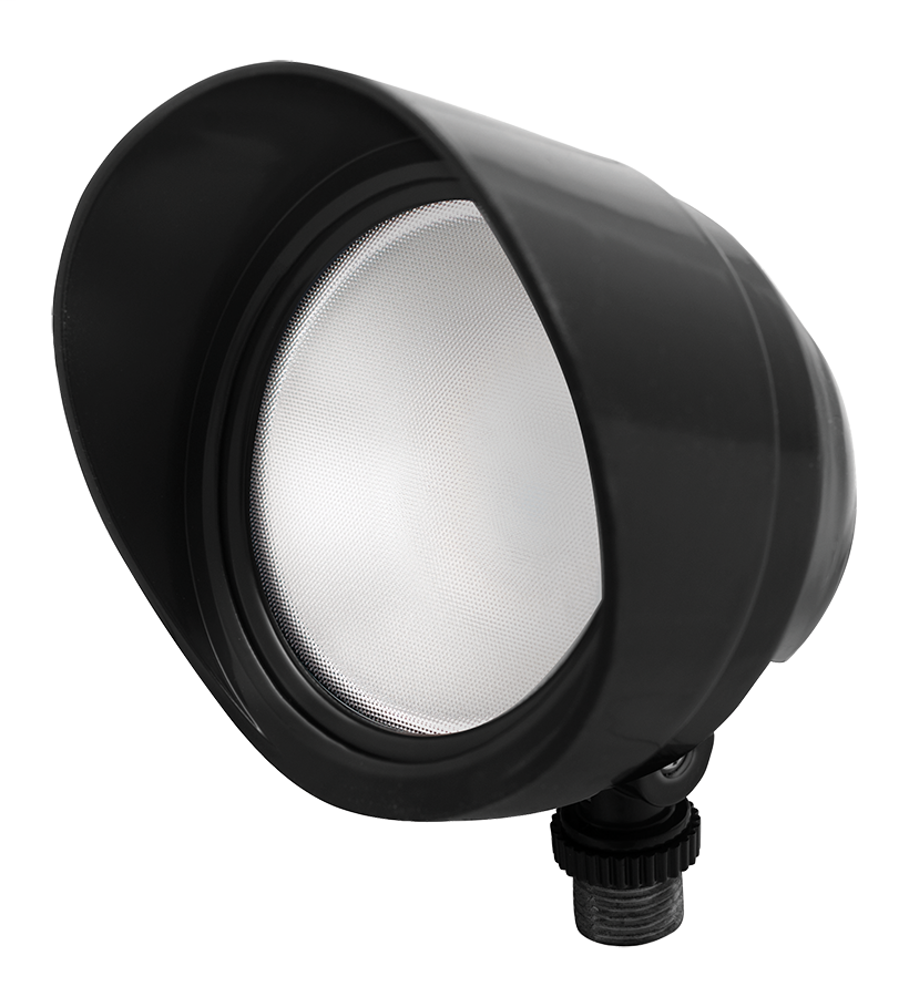 RAB BULLET12NB 12 W 120 Volt 4-3/4 x 4-1/2 Inch Neutral Black Die-Cast Aluminum LED Floodlight Fixture