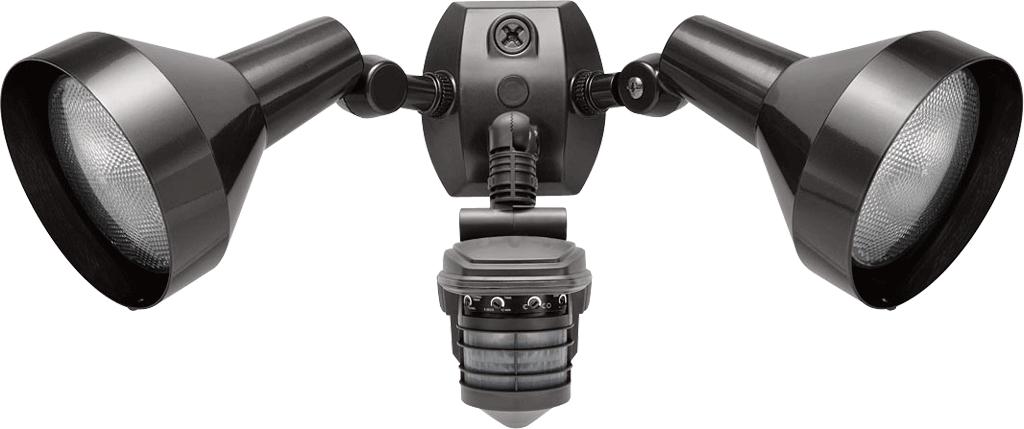 RAB STL360H 120 Volt 1000 W 360 Degrees 5-5/8 x 7 Inch Bronze Outdoor Lighting Sensor with Bullet Flood Kit