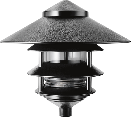 LAWN LIGHT 4 TIER AND  10 Inch  TOP INCANDESCENT 100W MAX BLACK