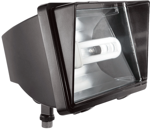FUTURE FLOOD 42W CFL QT AND  LAMP BRONZE